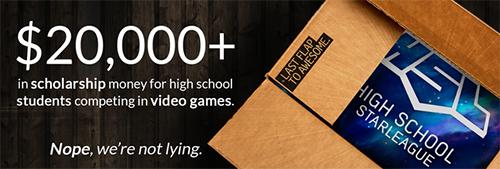 TwitchとNeweggがアメリカの高校生ゲームリーグ『High School Starleague』のサポートを発表、優秀な学生プレーヤーに奨学金を支給