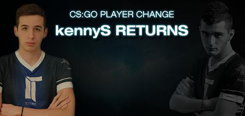 TitanがCS:GOチームのラインナップを変更、shoxに代わりkennySが加入