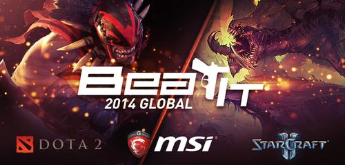 賞金総額$113,500の『MSI Beat IT 2014 Global』がDOTA2、StarcraftIIで開催、日本が出場可能な予選も実施