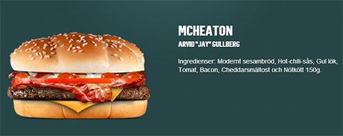 プロゲーマー関連の名前入りバーガー「McHeatoN」と「McFragbite」がスウェーデンのマクドナルドで9/30(火)に発売開始