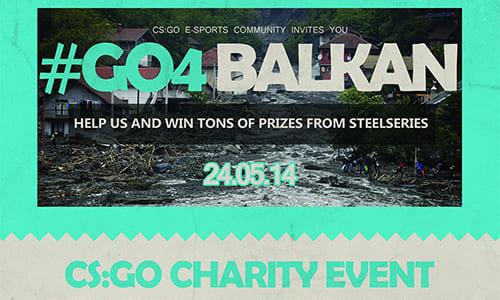 バルカン半島大洪水被害のチャリティCS:GOトーナメント『#GO4 BALKAN』で25,000ユーロ(約350万円)の寄付金が集まる