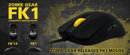 『ZOWIE GEAR』が光学式センサーADNS-3310を搭載した左右対称型のゲーミングマウス『FK1』を発表
