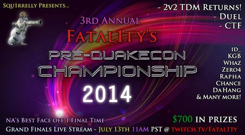 『Fatal1ty Pre-Quakecon Championship 2014』のDuel部門で Rapha が優勝