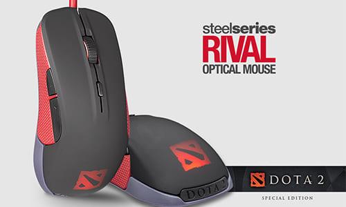 『DOTA2』デザインのゲーミングマウス『SteelSeries Rival Dota 2 Edition Gaming Mouse』発表