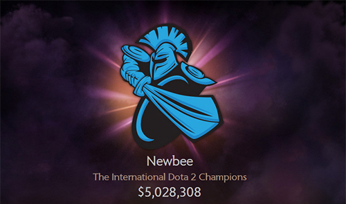 DOTA2世界大会『The International 4』王者Newbeeの獲得賞金約5億円の配分が明らかに、アメリカ政府30%、チーム10%、選手60%