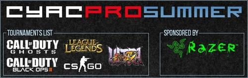 賞金付き大会『CyAC PRO 2014 Summer』CS:GO部門、League of Legends部門の決勝戦が本日8/24(日)に開催