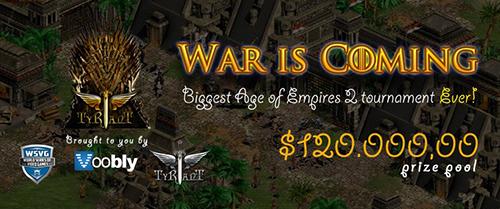 賞金総額12万ドルのAoC世界大会『War is Coming』の開催が決定