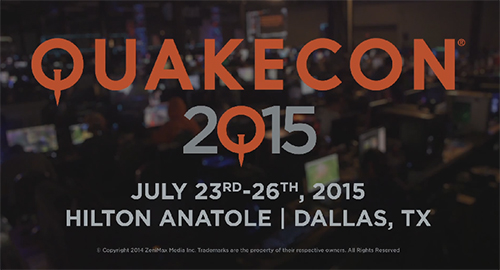 『QuakeCon 2015』にて団体戦形式の「The Quake Live Tri-Master Tournament」が開催