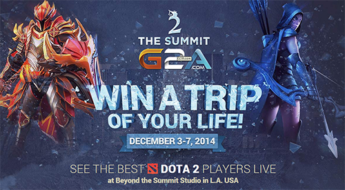 DOTA2世界大会『The Summit 2 by G2A.com』の観戦ツアーが当たるキャンペーン実施中