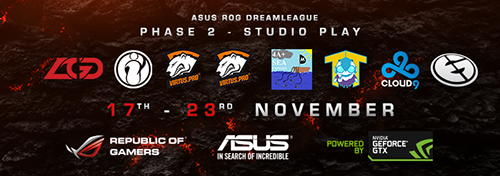 DOTA2大会『ASUS ROG DreamLeague Season 2』Phase 2予選が11/17(月)~24(月)に開催