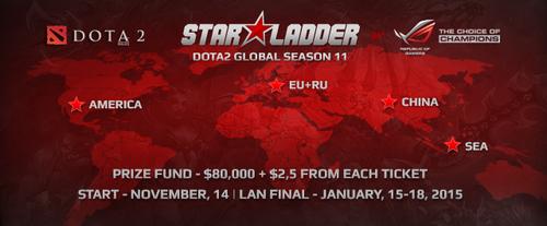 『Starladder Star Series Season XI』DOTA2部門が賞金総額80,000ドル以上で開催