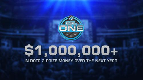 『ESL One』Dota 2シリーズが2015年より賞金総額100万ドル以上で開催