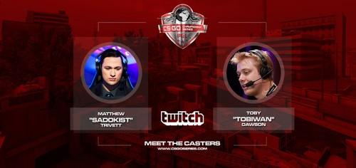 Dota 2の有名実況者TobiWan氏が『CS:GO Championship Series Kick-off Season』でキャスターを担当