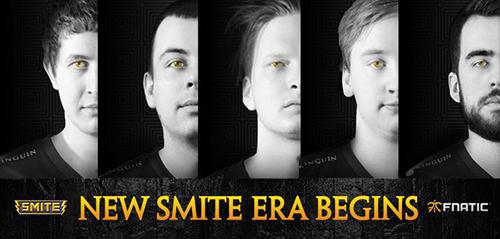 Fnaticが2015年シーズンのSMITEチームを発表、世界大会4位チームのメンバーと契約