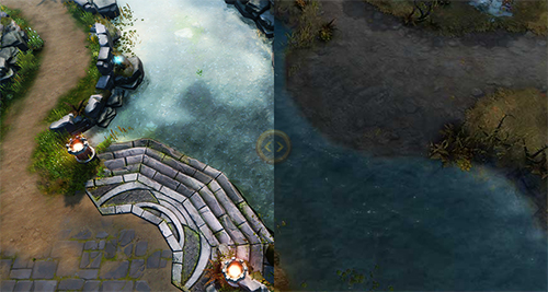 中国版『Heroes of Newerth』で大きくマップ装飾が変更されたリニューアル版「Forests of Caldavar」がリリース予定