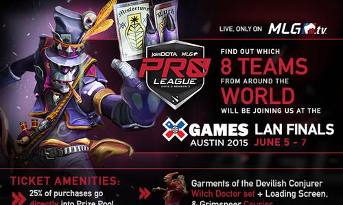 『joinDOTA MLG Pro League Season 2』が賞金総額$75,000以上で4月20日(月)から開催
