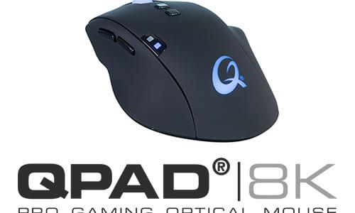 『QPAD』がオプティカルセンサー搭載のゲーミングマウス『QPAD 8K Optical』を発表
