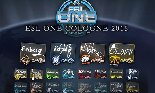 『Counter-Strike: Global Offensive』アップデート(2015-08-14)、『ESL One Cologne 2015』のステッカー等が追加