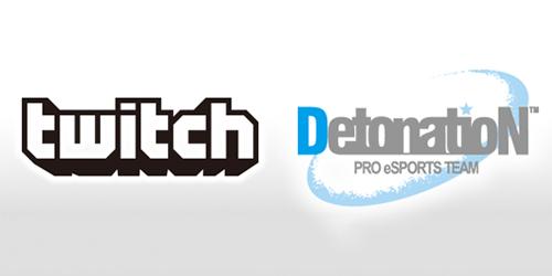 日本のプロeスポーツチームDetonatioNがゲーム配信サイト「Twitch」とのスポンサー契約を発表