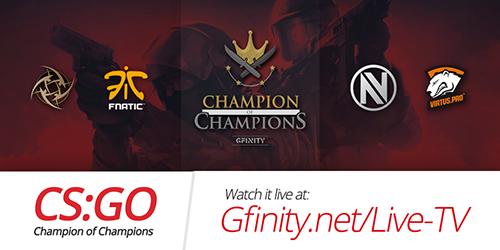 『Gfinity CSGO Champion of Champions』が9/26(土)、27(日)に開催
