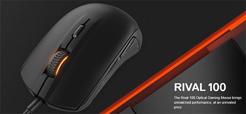 エントリー向け光学式ゲーミングマウス『SteelSeries Rival 100』が公式オンラインショップで販売開始