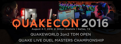 『QuakeCon 2016』でQUAKE LIVE DUEL、QUAKEWORLD 2on2 TDM大会が開催