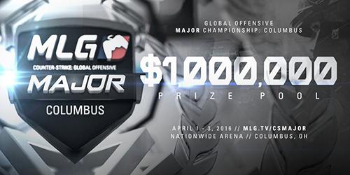 賞金総額100万ドルのCS:GO大会『MLG Columbus 2016』グループステージA・Bの組み合わせ決定