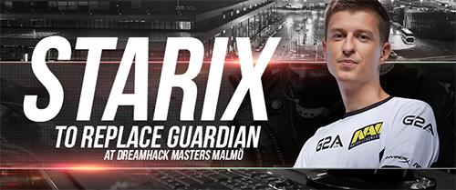 Natus VincereのGuardiaNがCS:GO大会『DreamHack Masters Malmö』の出場見合わせ、コーチのStarixが出場へ