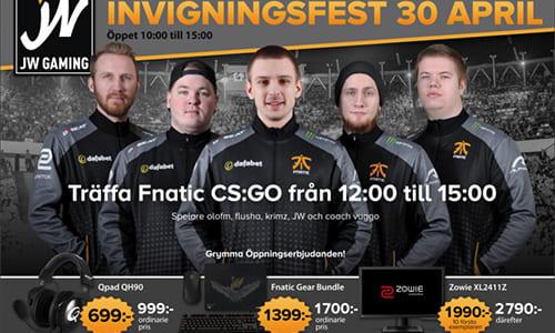 Fnatic CS:GO部門のJW選手がゲーミングストア「JW Gaming」をスウェーデンにオープン