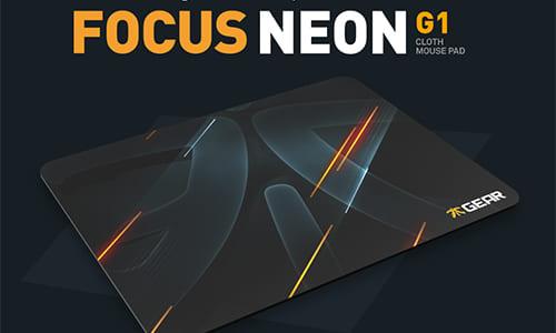 『Fnatic Gear』が大きなロゴを表面に採用した最新デザインのゲーミングマウスパッド『Focus Neon G1』を発表