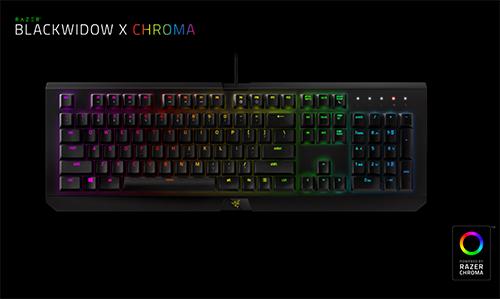 Razer独自キースイッチ採用のメカニカルゲーミングキーボード『BlackWidow X Chroma』が5/27(金)に国内販売開始