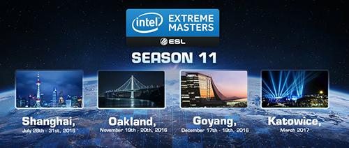 賞金総額100万ドル以上の『Intel Extreme Masters Season 11』が中国、アメリカ、韓国、ホーランドで開催決定