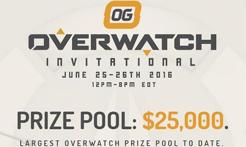 プロ8チームが招待出場、賞金$25,000『OG Overwatch Invitational』が6/25(土)、26(日)に開催