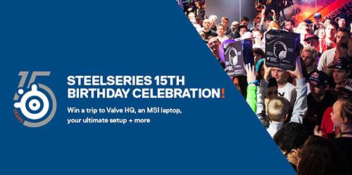 『SteelSeries』が15周年、ゲーミングデバイスやValve本社訪問ツアーがあたる記念キャンペーンを開始
