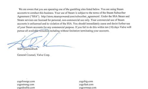 ValveがSteamのゲーム内アイテムを使用した23の規約違反ギャンブルサイトに警告文を送付、サービス停止を迫る