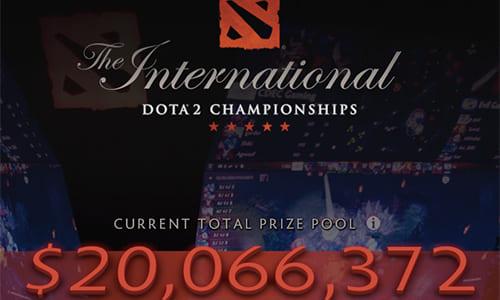 Dota 2世界大会『The International 2016』の賞金総額が2,000万ドル(約20.5億円)の大台を突破