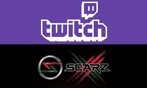 日本のプロゲームチーム『SCARZ』がゲームのライブ配信サイト『Twitch』とパートナーシップ契約を締結