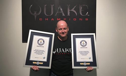 id Softwareが最も長期に渡る「FPSゲームデベロッパー」&「eスポーツトーナメント主催者」として2つのギネス世界記録を獲得