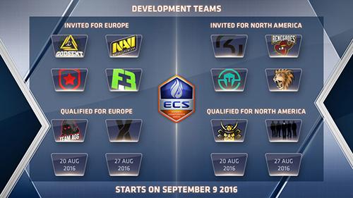 CS:GO『ECS Developmental League』の招待チーム発表