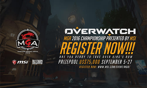 『Overwatch MGA 2016 Championship Presented by MSI』開催発表、日本が参加可能なアジア予選を実施