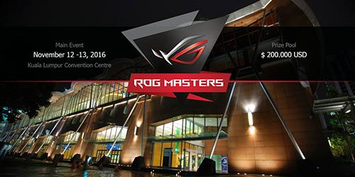 『ASUS ROG MASTERS 2016』CS:GO、Dota 2で開催、日本は東アジア予選に出場可能、出場登録締め切り迫る