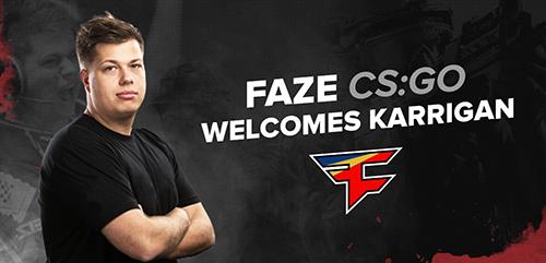 FaZe Clan CS:GO部門に元AstralisのインゲームリーダーKarrigan選手が移籍加入