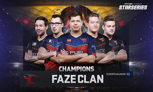 『StarLadder i-League StarSeries Season 3』でFaZe Clanが優勝