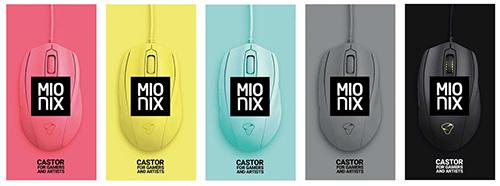 『Mionix』のゲーミングマウス『CASTOR』に4つの新カラーモデルが登場