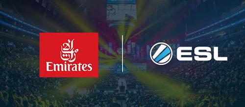 『ESL』が「エミレーツ航空」と提携、機内上映サービスにeスポーツコンテンツを提供