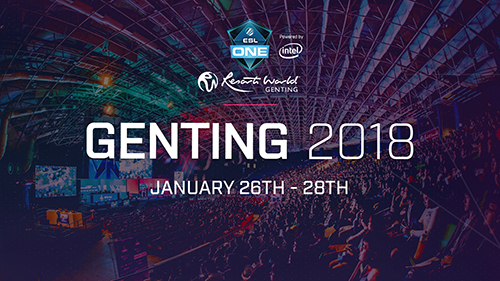 Dota 2プロサーキット『ESL One Genting 2018』が2018年1月23~28日にマレーシアで開催
