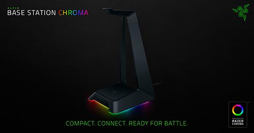 1680万色に光るゲーミングヘッドセット掛け『Razer Base Station Chroma』が登場