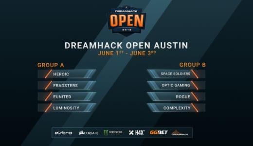 CS:GO『DreamHack Open Austin 2018』が2018年6月1~3日にアメリカ・オースティンで開催