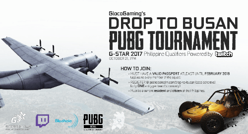 『PUBG ASIA INVITATIONAL』フィリピン予選『Drop to Busan』が10/21(土)20時より開催