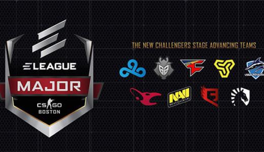 CS:GOメジャー大会『ELEAGUE Major: Boston』「New Legends Stage」に出場する16チームが決定、1/20(土)にスタート